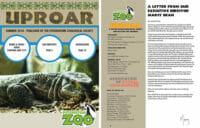 cover and inside of spring 2018 uproar